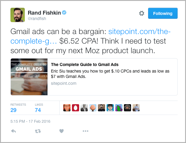 Rand Fish Tweet - marketing acronyms