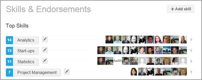 Skills & Endorsements image for engage influencers