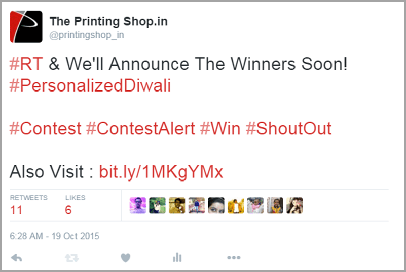 The Printing Shop announce the winners image 2 for get social media traffic