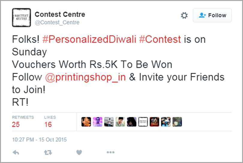 The Printing Shop promote your contest image 3 for get social media traffic