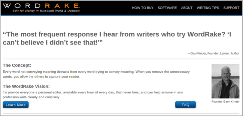WordRake - tool for how to outsource your content creation
