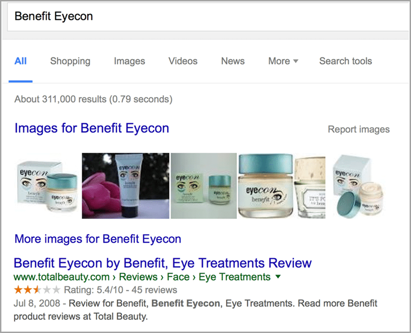 Your business reviews aren't favorable image for search results