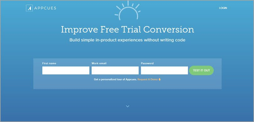 appcues free trial conversion image for conversion rate