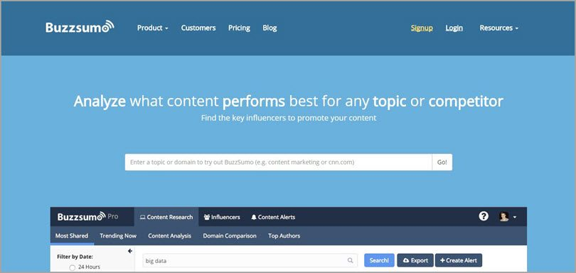 buzzsumo key influencers image for conversion rate
