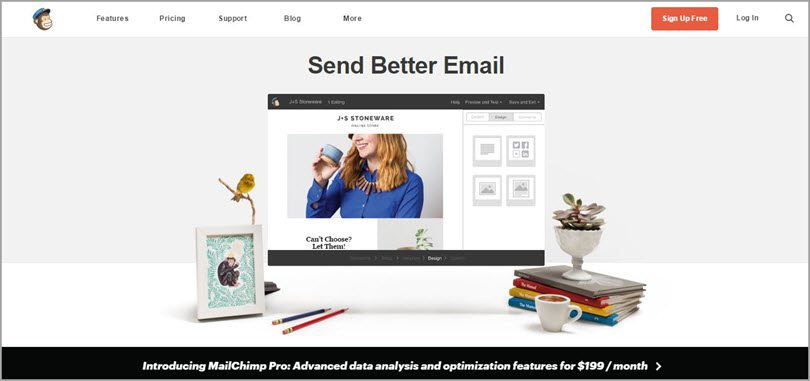 mailchimp send better email image for conversion rate