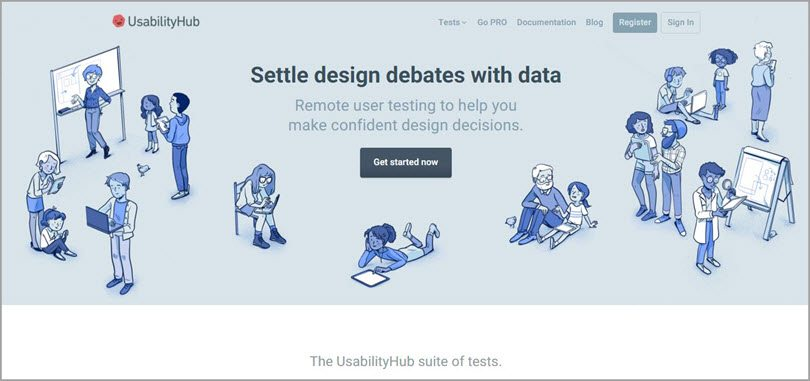 usability hub design debates image for conversion rate