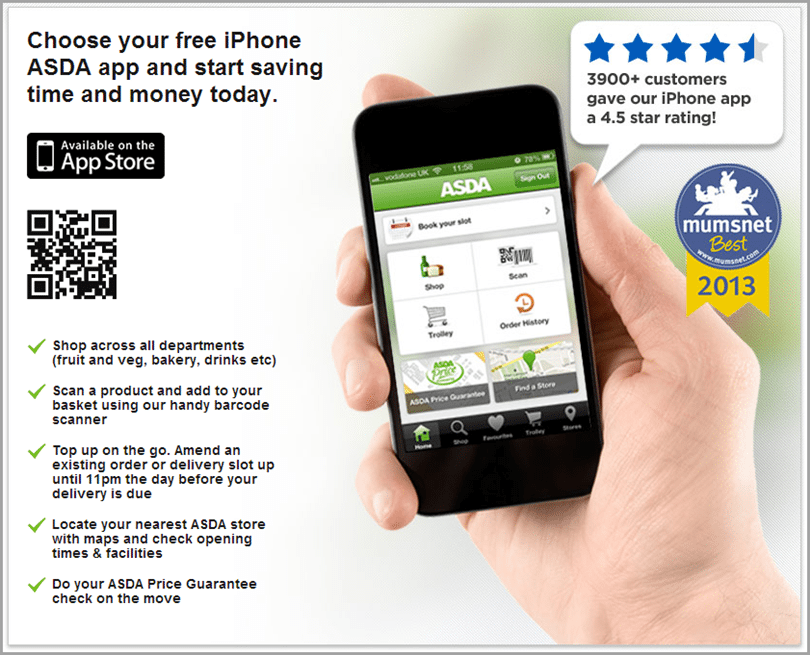 ASDA app for mobile strategy