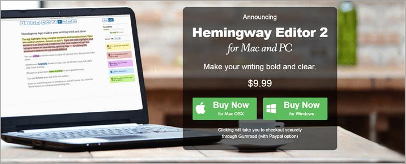 Hemingway for editing hacks