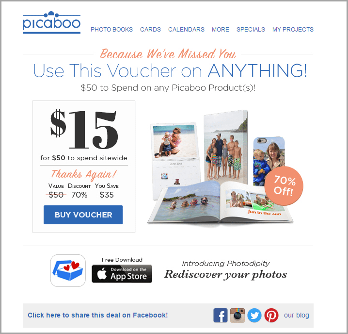 Picaboo campaign for email automation funnels