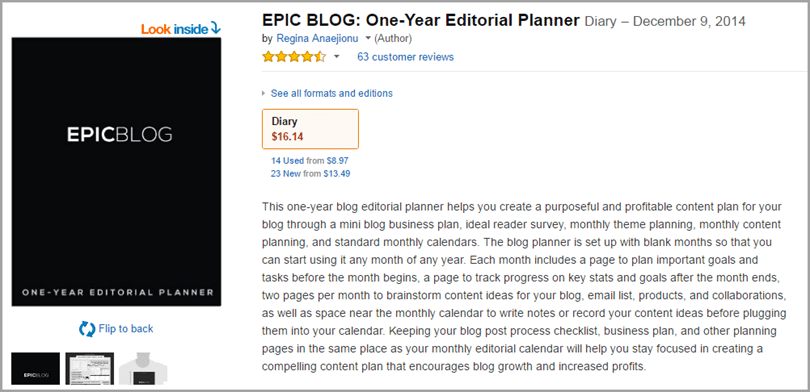 Regina Anaejionu editorial planner for blog monetization strategies