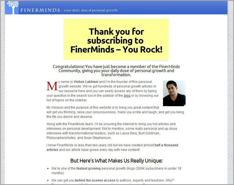 Thank you from FinerMinds for email automation funnels