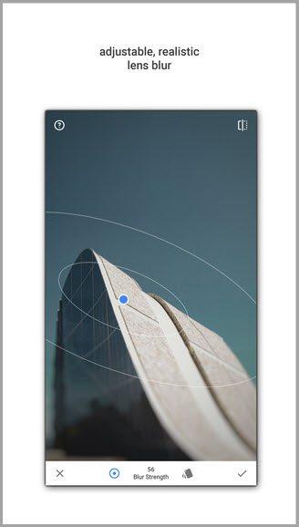 adjustable realistic lens blur for instagram apps