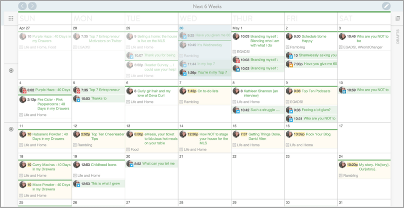 coschedule for organization for content marketing tools