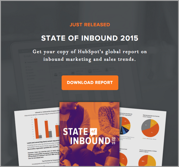 hubspot state of inbound report for lead magnet ideas
