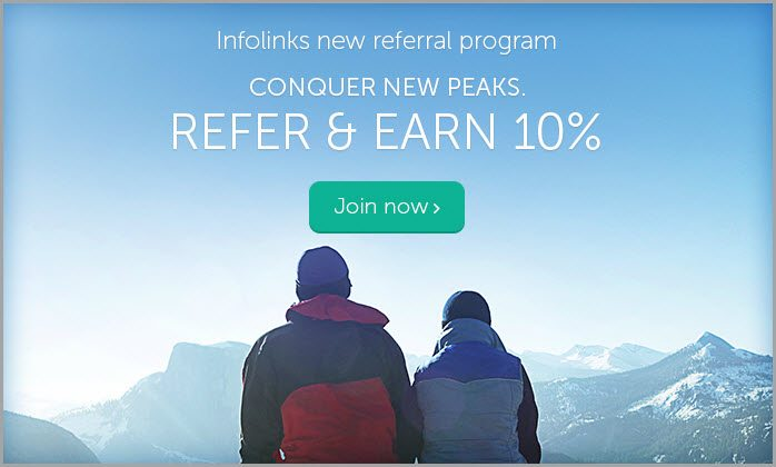 infolink publisher referral program for banner blindness