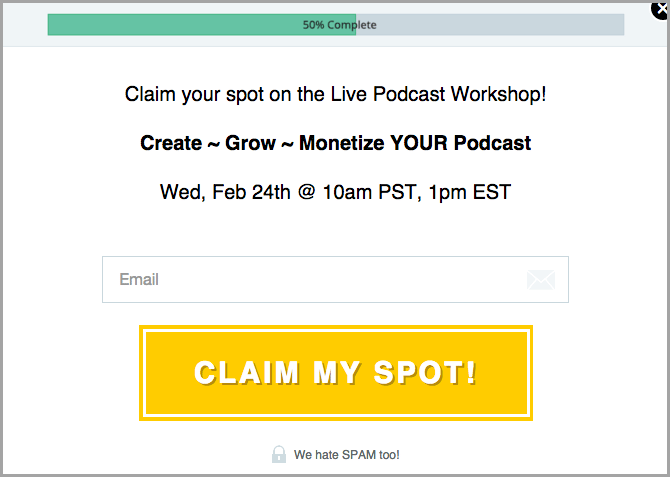 podcasters paradise signup for lead magnet ideas