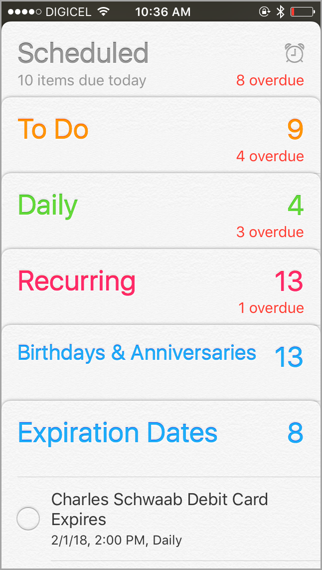 reminders app for productivity