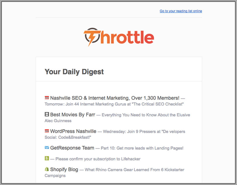 throttle for inbox productivity