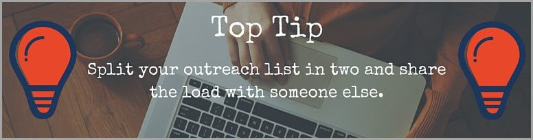 tip split outreach list to get your content noticed