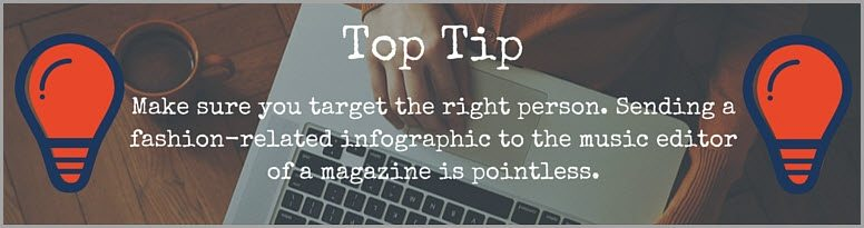 tip target the right person to get your content noticed