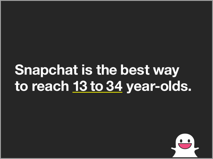 13-34 age group for Snapchat followers