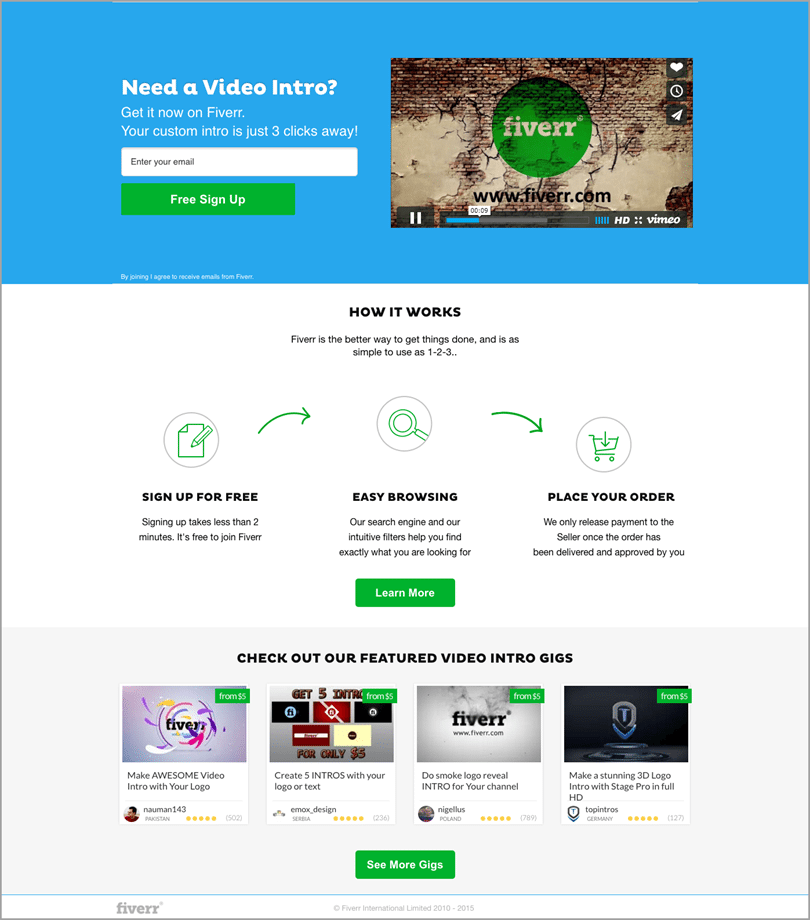 Fiverr.com for growth hacks