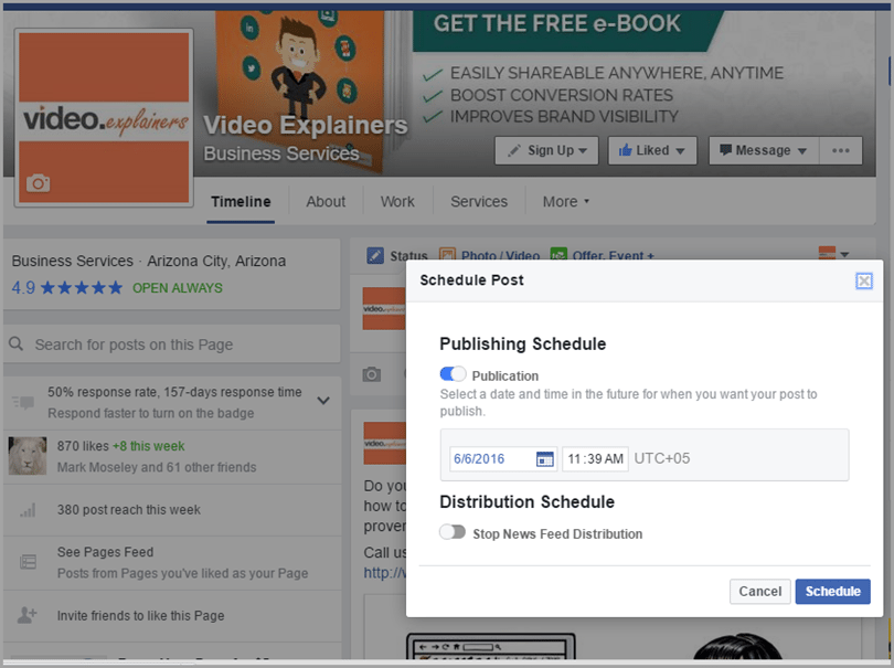 Choose a compelling thumbnail for video marketing on facebook