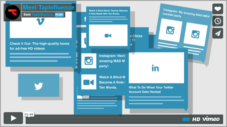 TapInfluence for landing page videos