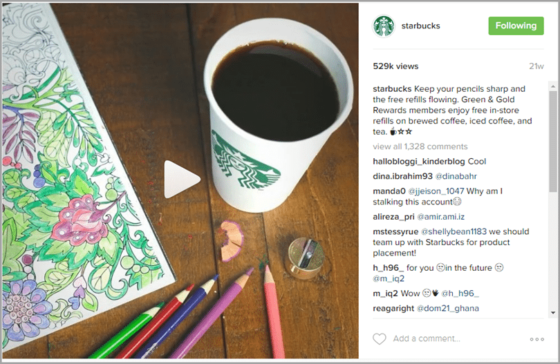 visual aesthetic more varied for Instagram video strategy