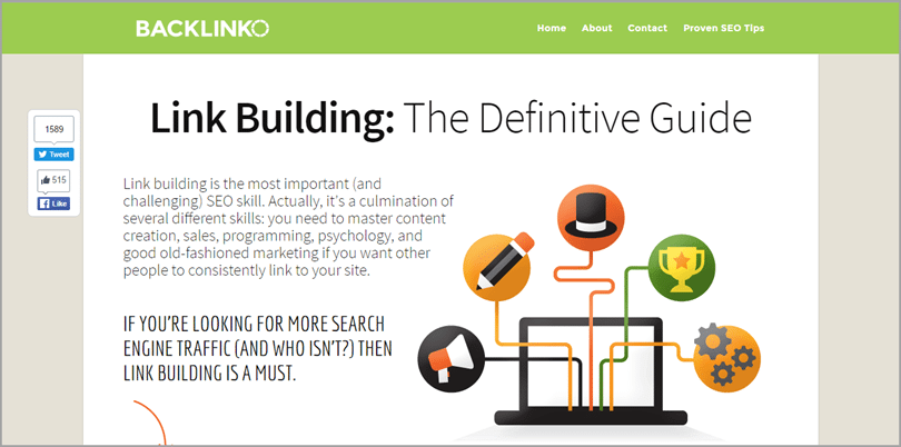 Backlinko for ecommerce content marketing