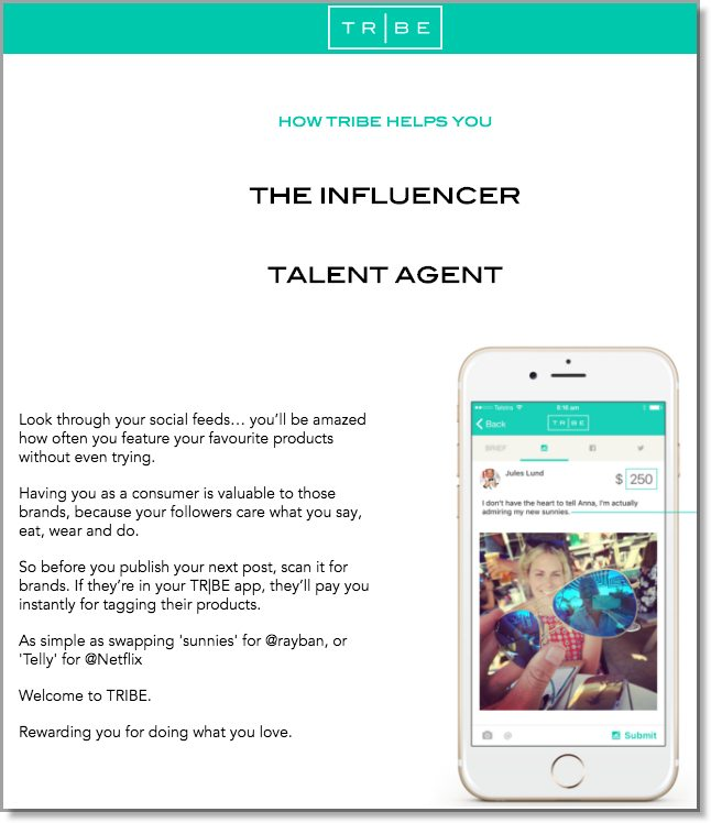 Tribe influencer marketing app