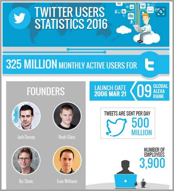Twitter facts infographic