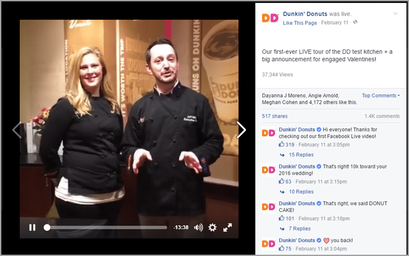 show customers what to expect 2 for Facebook's 24-hour live streaming