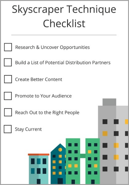 skyscraper technique checklist for successful digital marketer