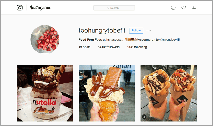 too hungry to be fit for Instagram influencer marketing
