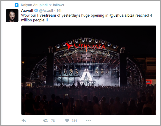 DJ Axwell's Facebook live streaming for live streaming 101
