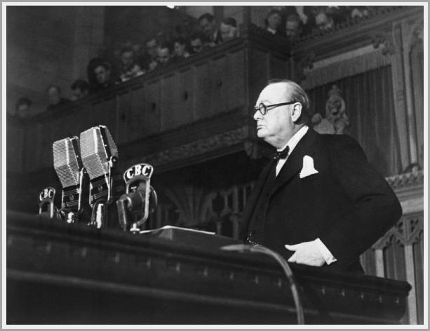 Winston Churchill for 25 Power words