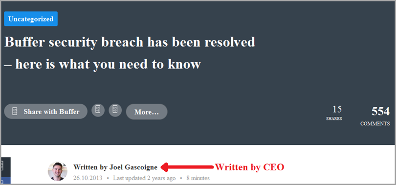 buffer hacked for content marketing benefits