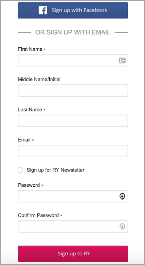 make sign up a snap for cart abandonment rate