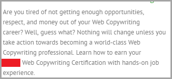 using your keywords like punctuations for SEO copywriting