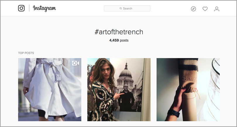 #ArtOfTheTrench hashtag for leverage user- generated content