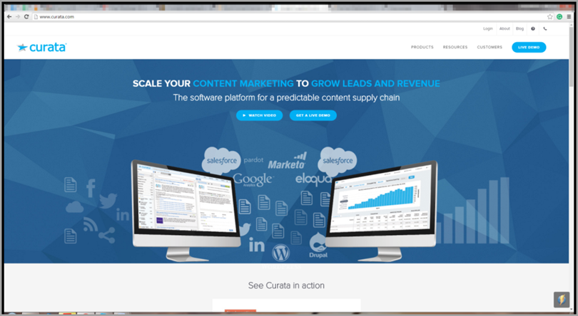 Curata for content marketing tools