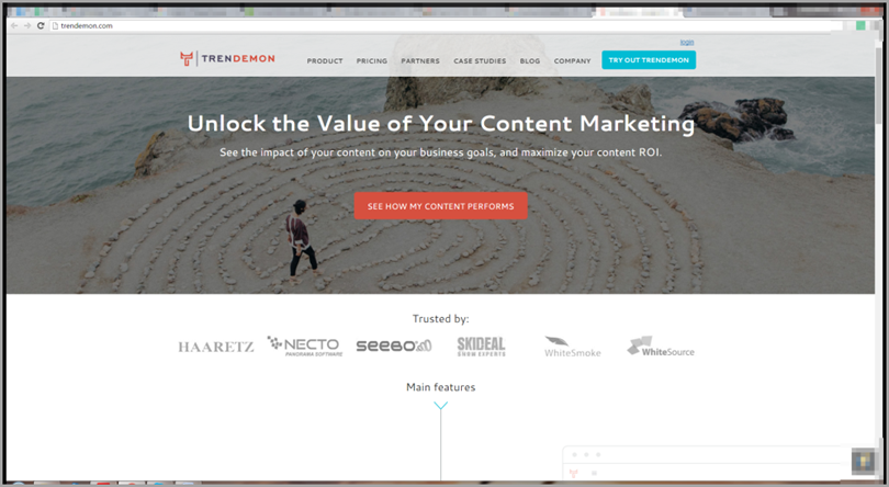 TrenDemon for content marketing tools