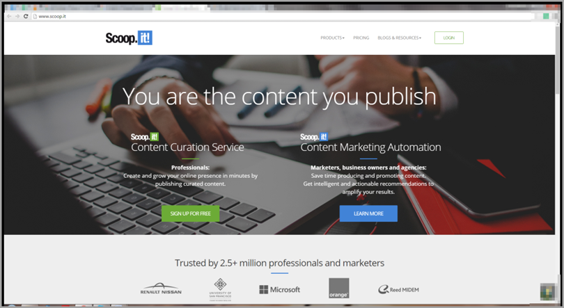 scoop.it for content marketing tools