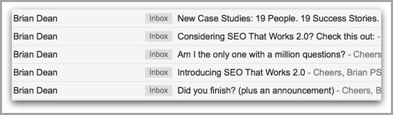 ask a targeted question for get your emails opened