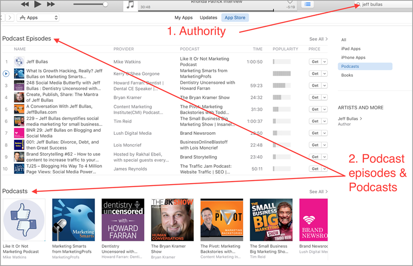 authorities in your niche for podcasting