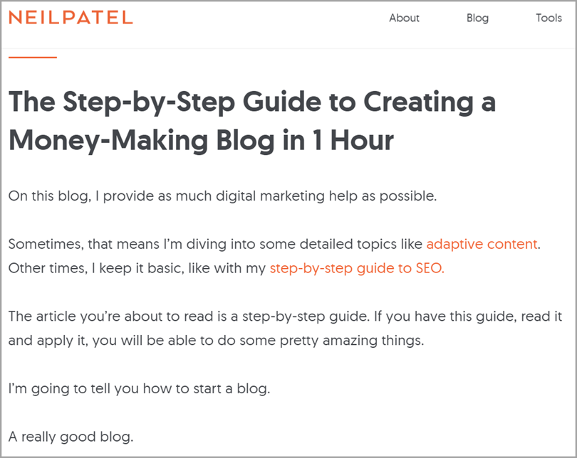 long form content for diversify your blog