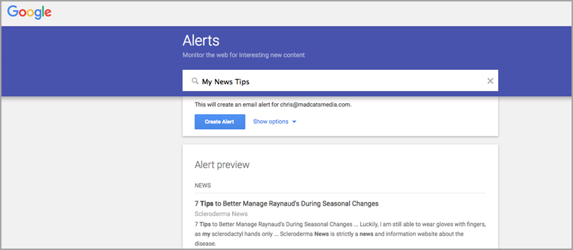 google-alerts-for-tips-for-growth-hacking