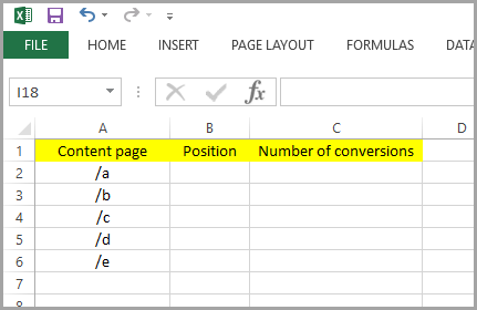 step-1-create-a-table-in-excel-for-bottom-of-the-funnel-content