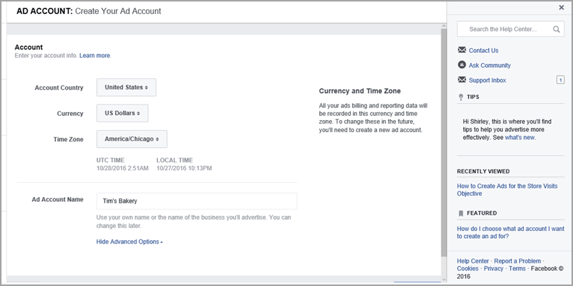create-account-for-how-to-target-facebook-ads